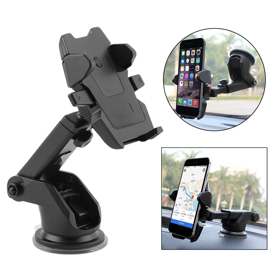 Smartphone Vehicle Mount Holder with Long Arm Windshield Suction Cup